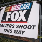 Sign for the NASCAR Driver's Shoot