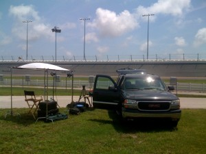 The GT ESPN set between turns 3 and 4