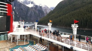 In Alaska aboard the Disney Wonder - Along the Inside Passage in Tracey Arm Fjord