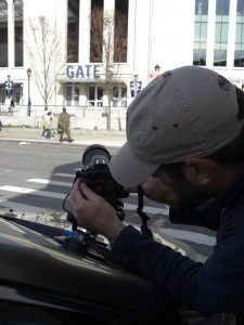 Rigging The SLR For The Driving Time Lapse