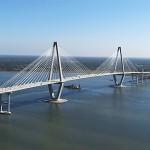 Ravenel Bridge Ariel Charleston, SC