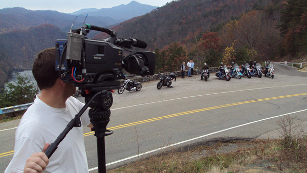 Top of the tail with the Panasonic Varicam