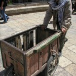 An Arab Vendor done for the day - just outside Damascus Gate at the Old City of Jerusalem