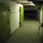 Our bunker doors - six floors below the ground