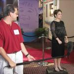 Audio operator, Paul Gramaglia, with Mary Lou Retton