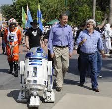 Bob Iger, George Lucas a R2D2